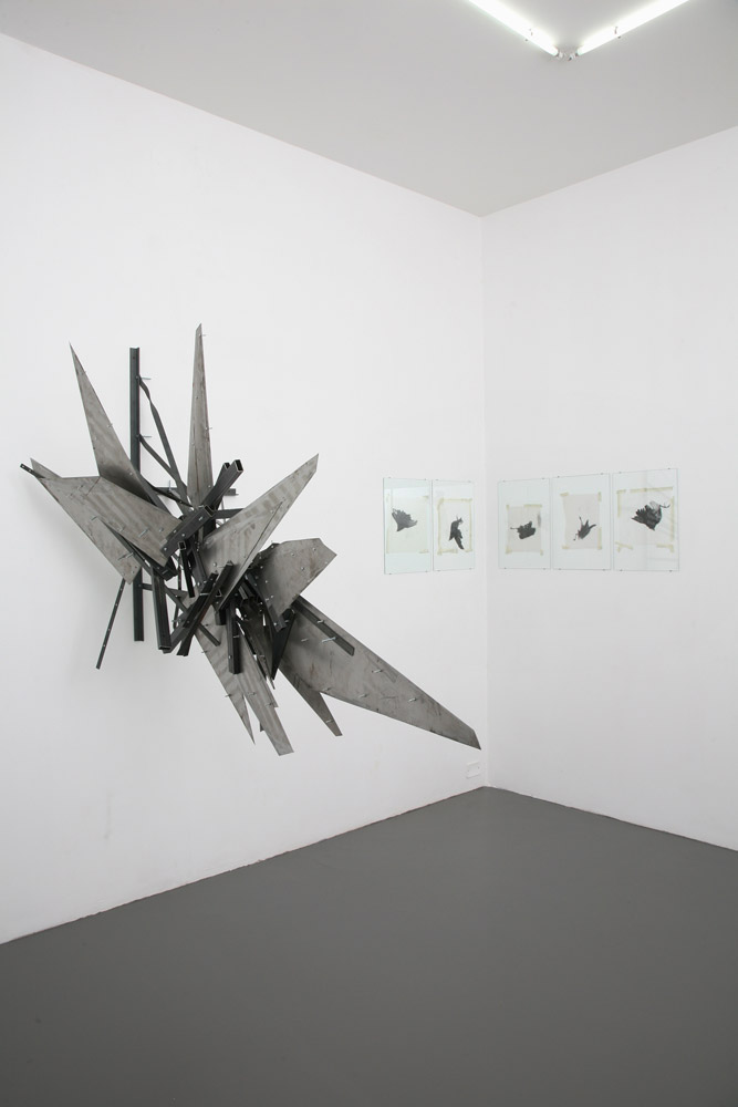 Alberto Tadiello, Adunchi (Hooked), metal bars and plates, nuts, bolts, various dimensions, 2010