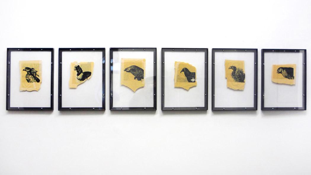 Alberto Tadiello, Adunchi, tecnica mista su carta (disegni), profilati metallici, fogli di plexiglass, carta da spolvero (stampe), 38 x 51 ciascuno, ventidue disegni e quarantaquattro stampe, 2010