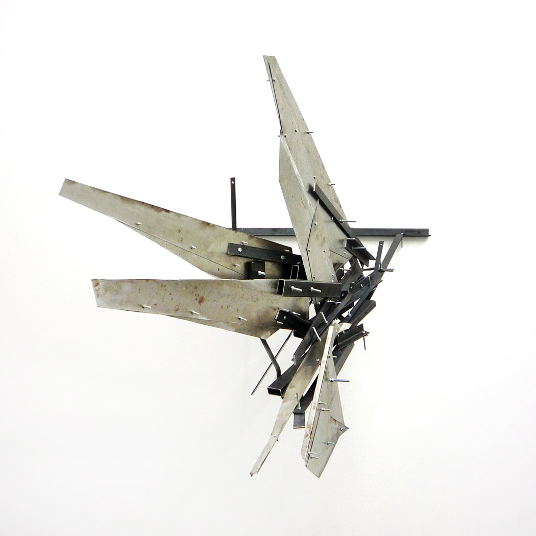 Alberto Tadiello, Adunchi (Hooked), metal bars and plates, nuts, bolts, various dimensions, 2010