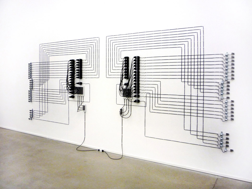 Alberto Tadiello, EPROM, music box, electric motors, voltage transformers, cables, 2008.