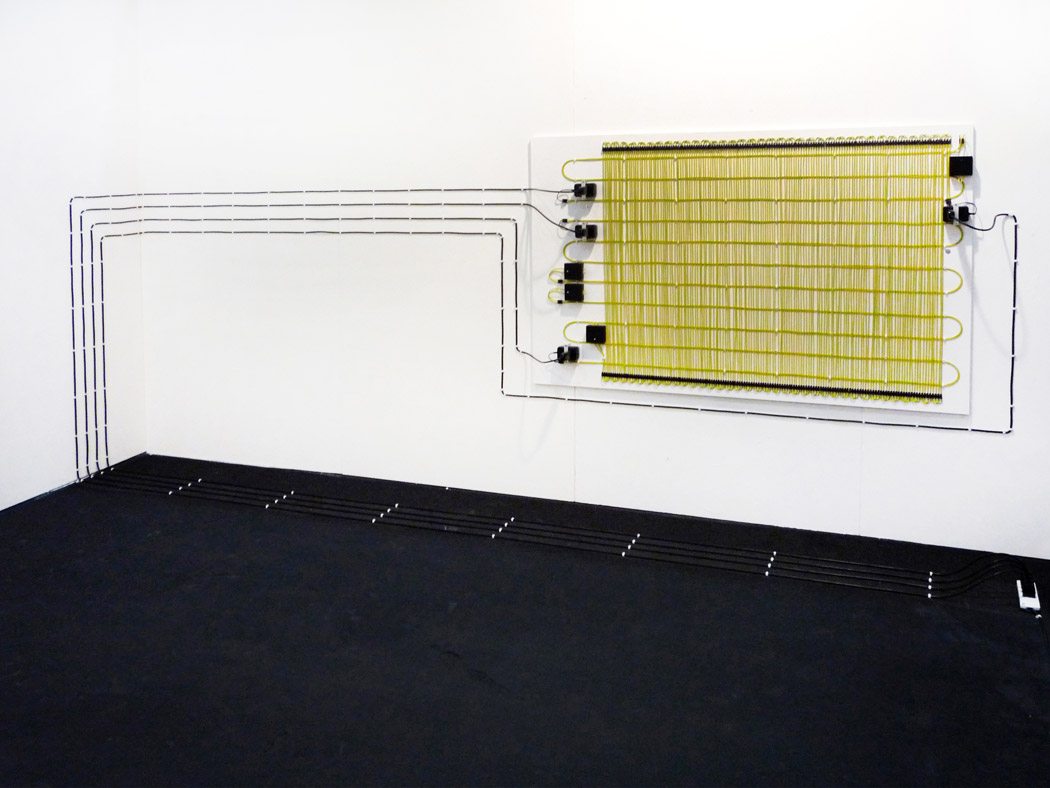 Alberto Tadiello, Farad, Cables, extension cables, voltage transformers, circuits, various dimensions, 2008.