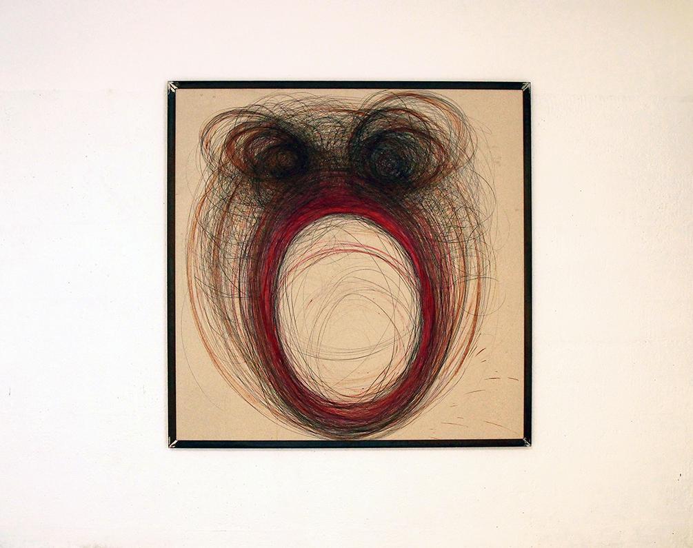 Alberto Tadiello, Inoculati, mixed media on particle board, metal extrusion frame, 190 x 188 cm each, 2018